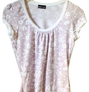 Wet Seal Top White, Lilac