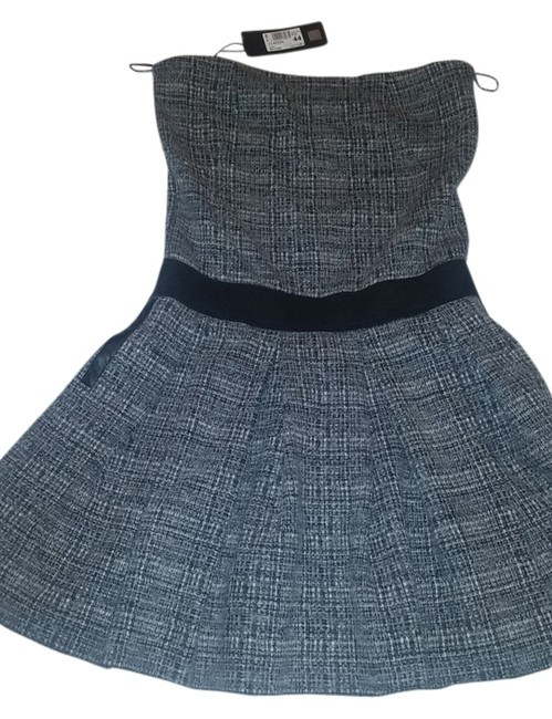 Item - Tweed European Designer Above Knee Short Casual Dress Size 8 (M)