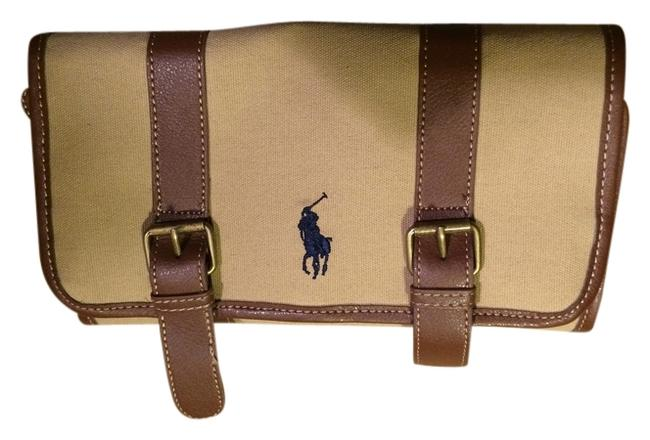 Item - Polo Tan Brown Blue Navy Canvas Weekend/Travel Bag