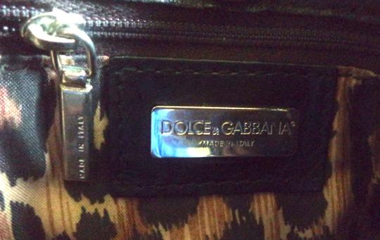 Dolce&Gabbana Silver Hardware D&g Dust Leather Leopard Lining Shoulder Bag