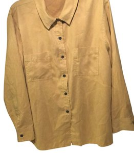 Chico's Button Down Shirt Yellow