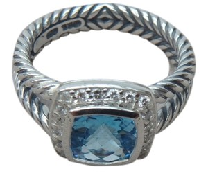david yurman new david yurman size 6 new with pouch albion petite ring blue topaz with - David Yurman Wedding Rings