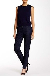 Theory Paticep Womens Indigo Navy Blue Stretch X Straight Leg Jeans