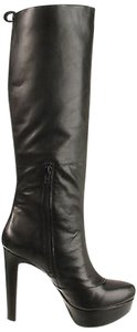 Jessica Simpson Ambery Womens Leather Platform Knee High Black Boots
