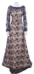 London Couture Lace Satin Polyester Dress