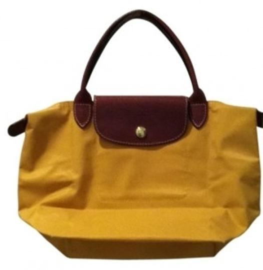 Longchamp Satchel in mustard