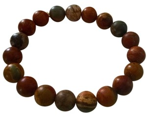 Other New Picasso Jasper Gemston Stretch Bracelet J265