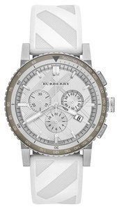 Burberry Nwt Burberry womens the city chronograph white sport watch BU9510 $700