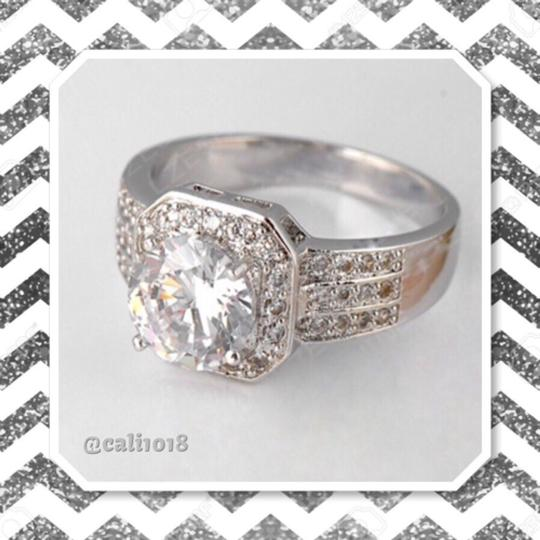 Silver Engagement Ring Image 1