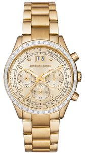 Michael Kors Nwt Brinkley Chronograph Gold Dial Gold-tone Ladies Watch MK6187 $400