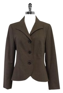 Lafayette 148 New York Brown Wool Jacket