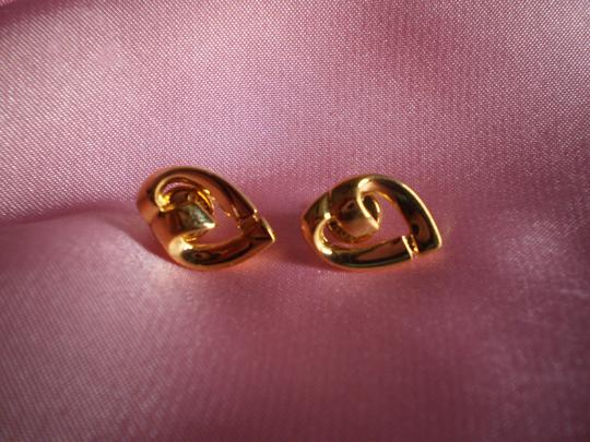 MONET Like New MONET Signed Heart Earrings