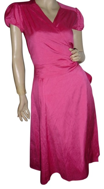 Calypso St. Barth Rose Pink Silk Wrap Christianne Celle @ Fashionista Style Boutique Knee Length Work/Office Dress Size 0 (XS) Calypso St. Barth Rose Pink Silk Wrap Christianne Celle @ Fashionista Style Boutique Knee Length Work/Office Dress Size 0 (XS) Image 1