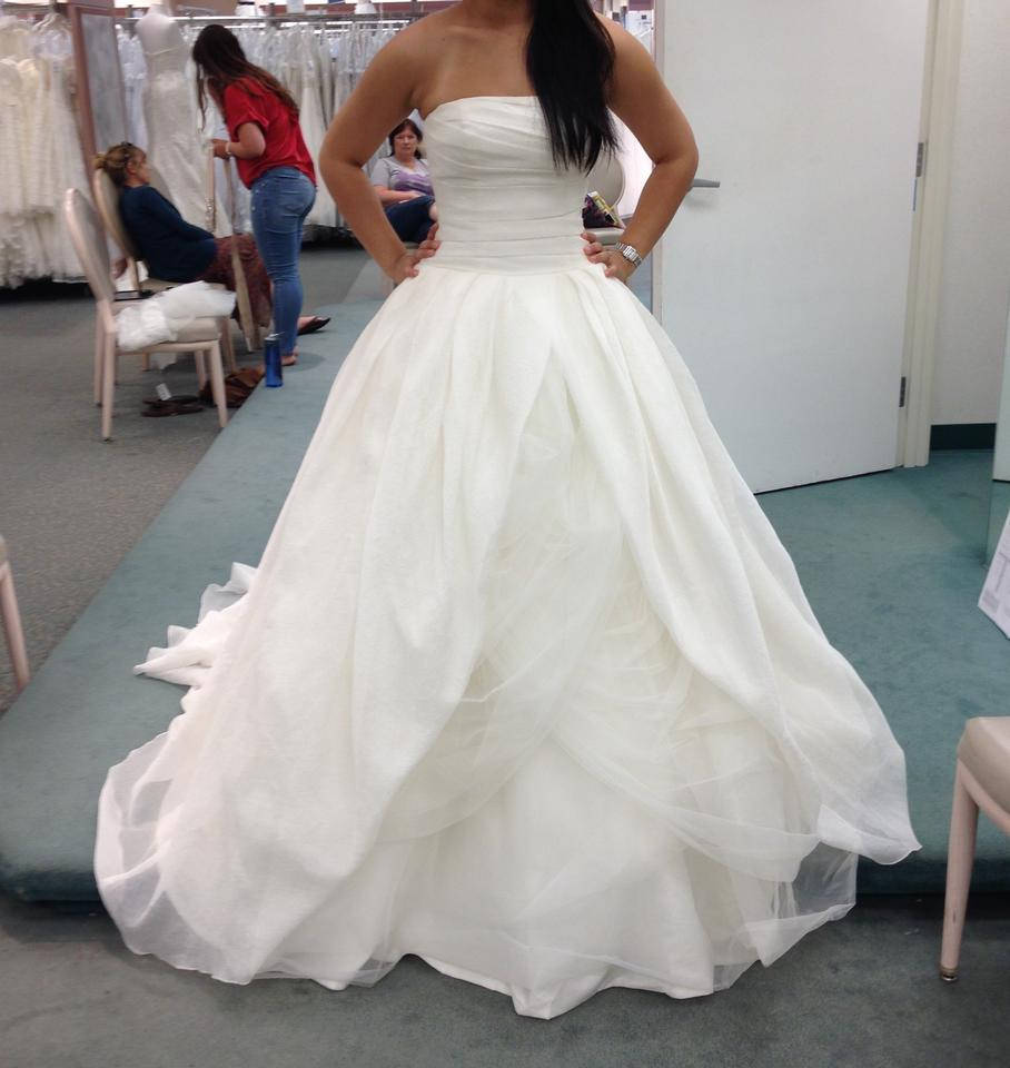 White By Vera Wang Ivory Organza Textured In
