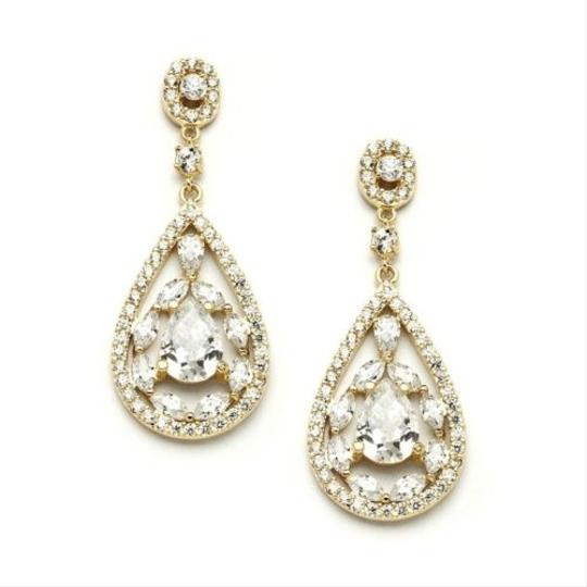 Stunning Gold Crystal Bridal Earrings