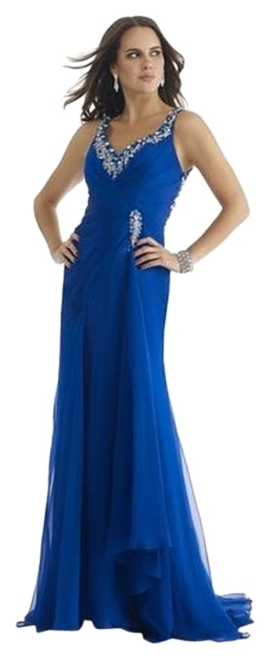 Morrell Maxie Navy Blue 14080 Long Formal Dress Size 12 L Tradesy