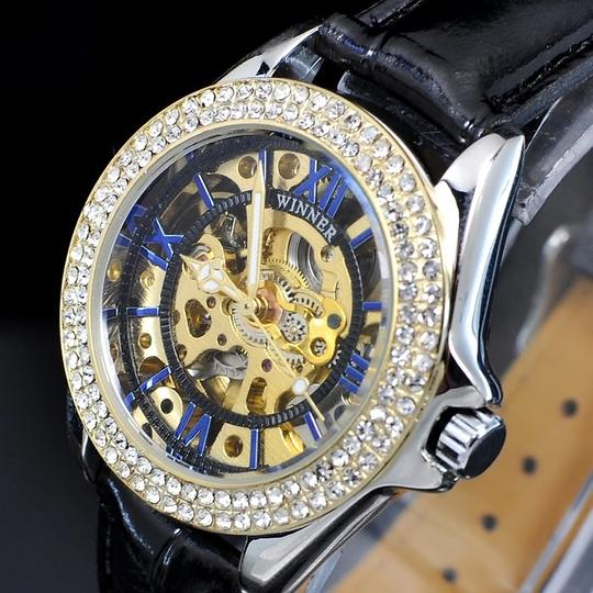 Winner Sensational Automatic Mechanical Watch With Attractive Blue Face-FREE SHIPPING-1/2 PRICE