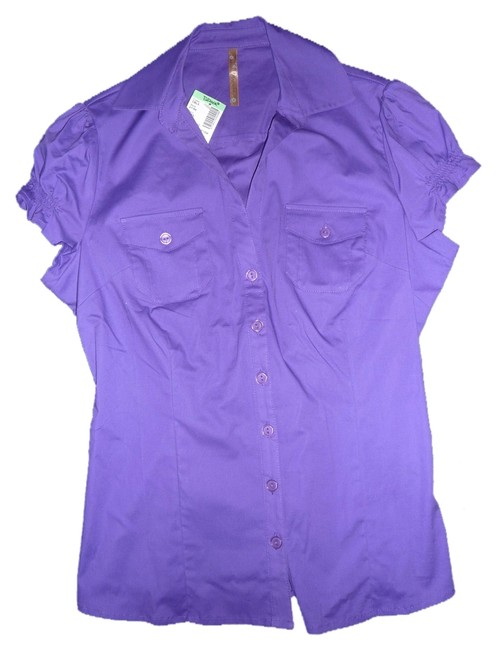 Papaya Button Down Shirt Purple