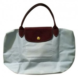 Longchamp Tote in light pale blue