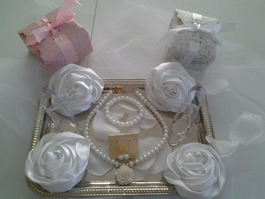 Flower Girl Or Bridesmaid Pearl Necklace Set
