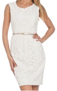 Ellen Tracy short dress Ivory Lace Off-white Brdal Engagment on Tradesy