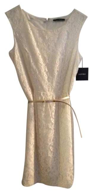Ellen Tracy short dress Ivory Lace Off-white Brdal Shower Engagment on Tradesy