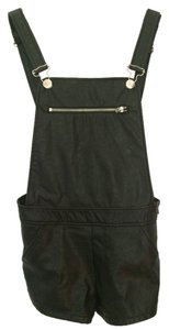 Forever 21 Shortalls Shorts Black leather