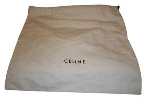 Céline Brand New Large Celine Sleeper/ Dust Bag or Protective Cover White with Black Logo . Size 15 width x 15 Length. Drawstring Bag.