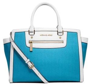 Michael Kors Summer Leather Satchel in Blue