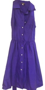 Datiani short dress Deep Purple 100% Silk Silk on Tradesy