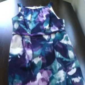 Elie Tahari short dress Purple, Green And White on Tradesy