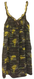 Hero & Leander short dress Patterned Gray Yellow And Gray Birds Anthropologie on Tradesy