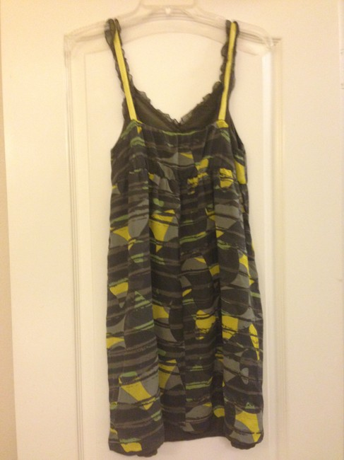 Hero & Leander short dress Patterned Gray Yellow And Birds Sundress Anthropologie on Tradesy