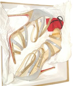 Christian Louboutin silver and gold Sandals