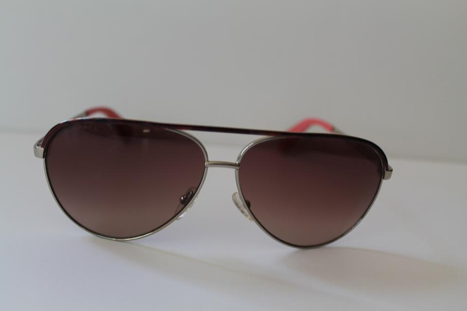 3277b6b568fd Marc Jacobs Marc Jacobs Silver and Pink Aviator Sunglasses Image 4. 12345