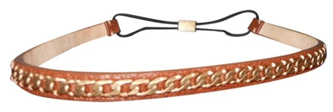 Item - Brown/Gold Leather Headband Hair Accessory