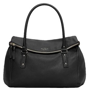 Kate Spade Gold Hardware New York Classic Leather Tote in Black