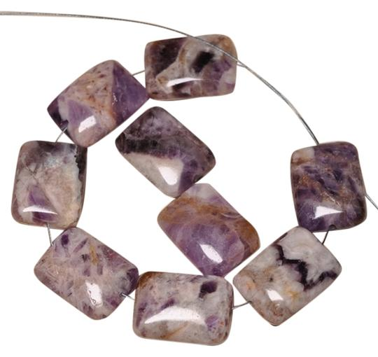 Unknown AMETHYST BEADS 9 Pieces 20X15X7MM NATURAL CHEVRON AMETHYST GEMSTONE RECTANGLE BEADS free shipping