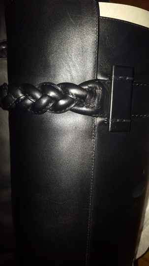 Valentino Calfskin Heel 100mm Made In Italy Black Boots Image 2