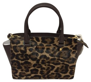 Michael Kors Satchel in Brown/Black/Multi