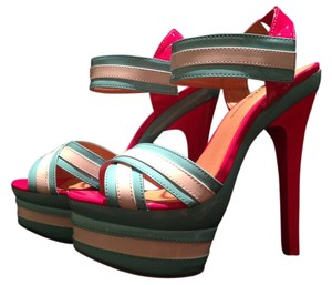 Diva Lounge AQUA,WHITE & HOT PINK Platforms