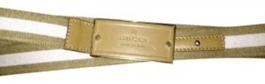 Gucci Gucci canvas/leather belt