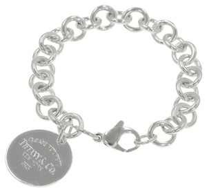 Tiffany & Co. Authentic Tiffany & Co. Sterling Silver Return to Tiffany Round Tag Bracelet