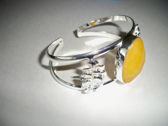 Other Jade Siver Open Cuff Bracelet Image 2