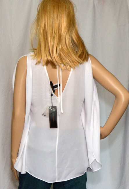 BCBGMAXAZRIA Top white / Silver silk