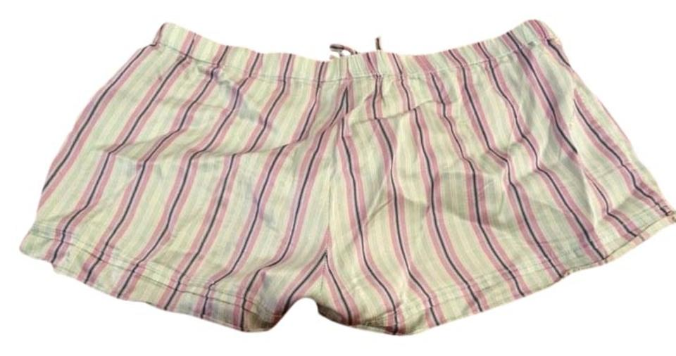 041968e8495a0 Victoria's Secret Blue/Purple/White Striped Silk Pajama Shorts Size 2 (XS,  26) 50% off retail