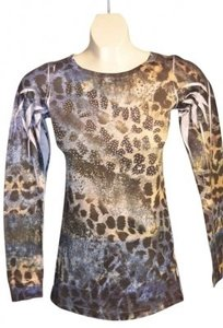 Daytrip Long-sleeved With Embellishments Size M Of Grey Green White Black T Shirt Multi