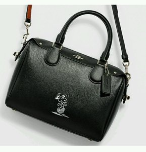 Coach Snoopy Limited Edition Satchel in black