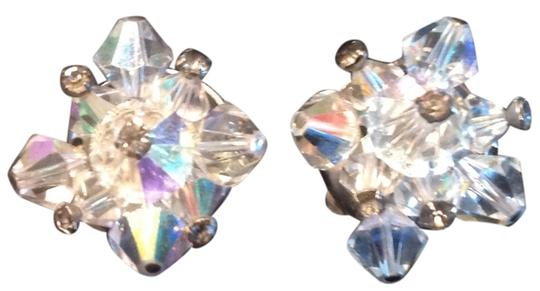 Vintage 1950's Vintage Crystal Earrings