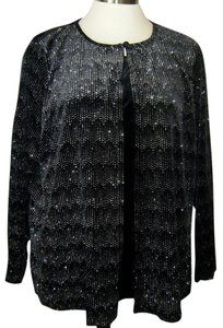 NOTATIONS Top BLACK W GLITTER